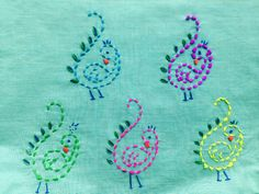 simple and small hand embroidery varli designs के लिए चित्र परिणाम Simple Embroidery Designs, Kurti Embroidery Design, Bead Embroidery Patterns, Embroidery Stitches Tutorial, Embroidery Works, Beaded Embroidery, Hand Embroidery Dress, Hand Embroidery Videos, Sewing Art