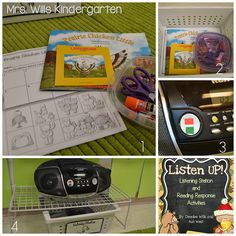 Here's how I set up my listening station for Kindergarten.