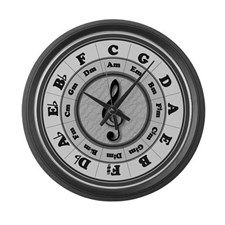 Circle of Fifths Large Wall Clock for