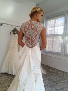Pretty lace bridal gown back