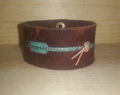 Arrow latigo leather cuff bracelet