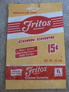 Fritos, cut the bag down the side, add some chili, grated cheese use a SPORK and you realize there is no finer meal in all the world.  Chili frito pie in the palm of your hand!