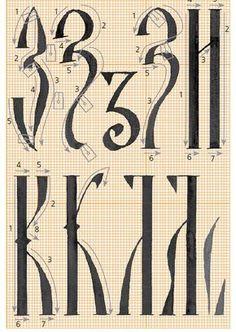 каллиграфия: м н о п з и к л