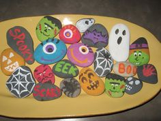 painted halloween rocks