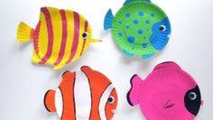 Lavoretti fai da te: i piatti di carta si trasformano in pesci tropicali