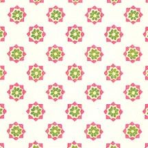 Pink and Green Stamped Floral Print Italian Paper ~ Tassotti