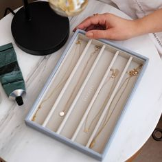 Stackers | Classic Necklace Layers Travel Jewelry Organizer, Hanging Jewelry Organizer, Jewelry Organization, Jewellery Boxes, Jewellery Storage, Jewelry Box, Container Store, Classic