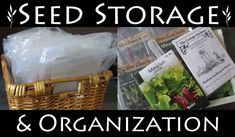 Really simple seed storage and organization system for the home gardener. #gardeningtips #organization #diy