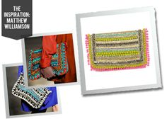Inspired by Matthew Williamson Pom Pom Clutch