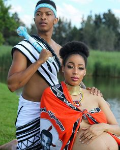 Do you want to craft a long gown from your African fabrics and don't have an idea of where to start or what to make? Then this LOVELY XHOSA ATTIRE is for you. South African Fashion, African Fashion Designers, African Fashion Ankara, Africa Fashion, Traditional African Clothing, African Traditional Wedding, Traditional Wedding Dresses, African Dresses For Women, African Women