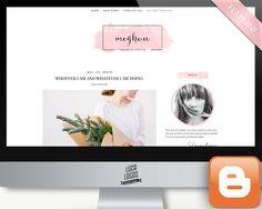 Feminine Blogger Template - Meghan by LucaLogos on @creativemarket