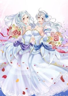 Bride Robin and Bride Corrin : FireEmblemHeroes