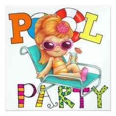 Pool Party - SRF Personalized Invitation