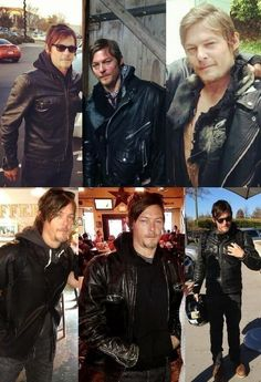 Reedus in leather..... Good Lord......