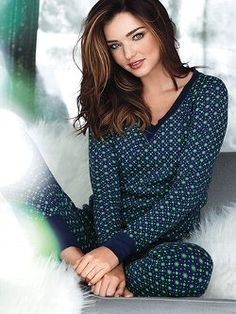 Cozy, cotton thermal to live and lounge in: the Fireside Long Jane Pajama from Victoria's Secret. The long-sleeve raglan top and ready-to-layer legging pant make this PJ set essential for winter wonderlands.