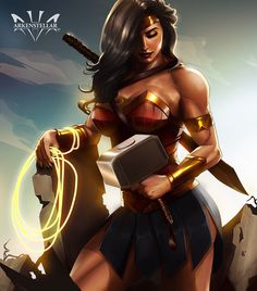 Wonder Woman by Arkenstellar << And now she has Mjonir