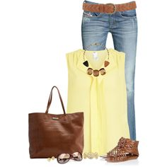 """""""Butter Yellow"""" by immacherry on Polyvore"""