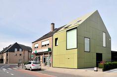 "Crepain Binst Architecture ""Semi-Detached House"" Humbeek, Belgium."