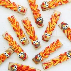 Easy turkey cookie sticks for Thanksgiving @ thedecoratedcookie.com