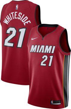 Nike Men s Miami Heat Hassan Whiteside  21 Red Statement Dri-FIT Swingman  Jersey 6d6254011