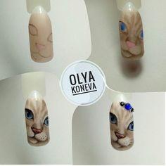 Owl Nail Art, Owl Nails, Minion Nails, Funky Nail Art, Animal Nail Art, Funky Nails, Cartoon Nail Designs, Nail Art Designs, Nail Art Videos