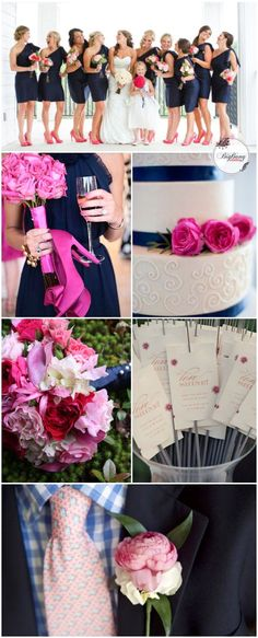 Need inspiration for flowers for a Fuschia/Navy Blue wedding ...