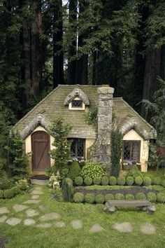 APlaceImagined: English Cottage Playhouse. In a small cottage in the woods lived. . .