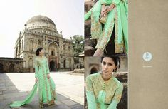 Light Green color Georgette fabric Designer Suit by VardhitaSarees