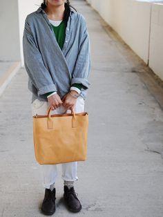 Artemis lederwaren Hand gestikt gewassen Leather Tote Bag