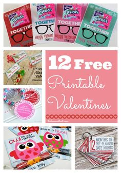 Lots of free Printable Valentines at thebensonstreet.com. Lots of cute ideas using candy and non-candy items. #printable #valentines #classvalentinescg