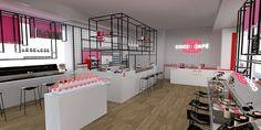 COCO CAFE SINGAPORE - Interior 1 (Coffee and Bubble Tea counter, Colour Bars)