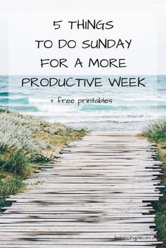 Get rid of those Sunday night blues! Doing these 5 tasks will allow you to relax more during the week and stress less.