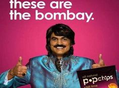"""ashton kutcher popchips --- Ashton Kutcher in bown-face paint for Pop-chips ads. """"these are the bomb"""" word play Bombay, India. has a funny looking smile on his face, corny/racist/stereotypical ad Popped Chips, Indian Names, Intimate Wash, First Ad, Ashton Kutcher, Like Facebook, Writers Write, Creative Advertising"""