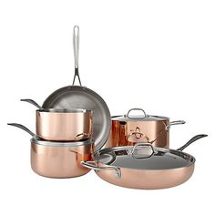 Buy John Lewis Copper Saute Pan with Lid, Dia.28cm Online at johnlewis.com