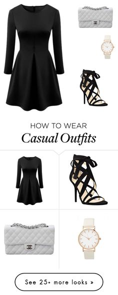 """""""Casual/going out in"""" by jasminenz on Polyvore featuring Nine West and Chanel"""