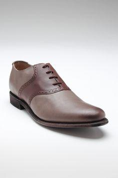 JD FISK Nikko Saddle Shoe Taupe Leather