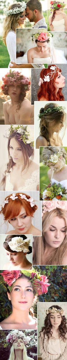 Some of these are a little much but overall I like the concept for this natural touch to the wedding hair!