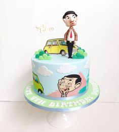 Mr Bean cake by All fondant figurine. Mr Bean Cake, Bean Cakes, Mr Bin, Novelty Cakes, Cake Creations, Cakes And More, Cake Cookies, Cake Toppers, Fondant