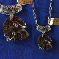 Ciondolo di Ammonite di CreazioniAnnaG1726 su Etsy