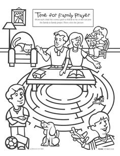 Fabulous Lds Prayer Coloring Page 84 Family Prayer coloring page