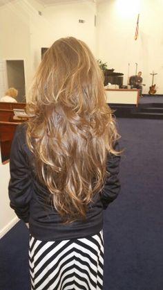 Long layered hair