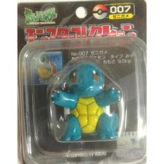 """Pokemon 2000 Squirtle Tomy 2"""" Monster Collection Plastic Figure #007"""