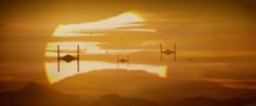 Star Wars The Force Awakens Tie Fighter Sunset