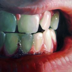 oil painting teeth