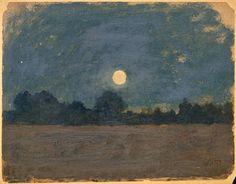 wetreesinart: Odilon Redon (Fr. 1840-1916), Nocturne, huile sur carton, 18 x 23,4 cm, Paris, musée d'Orsay