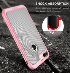 iPhone 7 Plus Case, SGM Premium Hybrid [Dual Layer] Armor Case Cover For Apple iPhone 7 Plus [Advanced Anti-Slip Design] [Shock Proof]