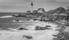 Portland Head Lighthouse B&W