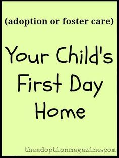 Your Child's First Day Home
