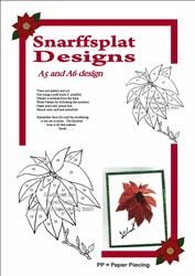 poinsettia pattern #irisfolding  visit me at My Personal blog: http://stampingwithbibiana.blogspot.com/