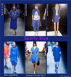 Sporty Blue!   #Fashion #Trends Blue Fashion, Fashion Show, Womens Fashion, Fashion Trends, French Women Style, Rhythm And Blues, Cheap Clothes, Capri Pants, Sporty